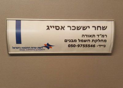 שלט הכוונה למשרד רשות שדות התעופה